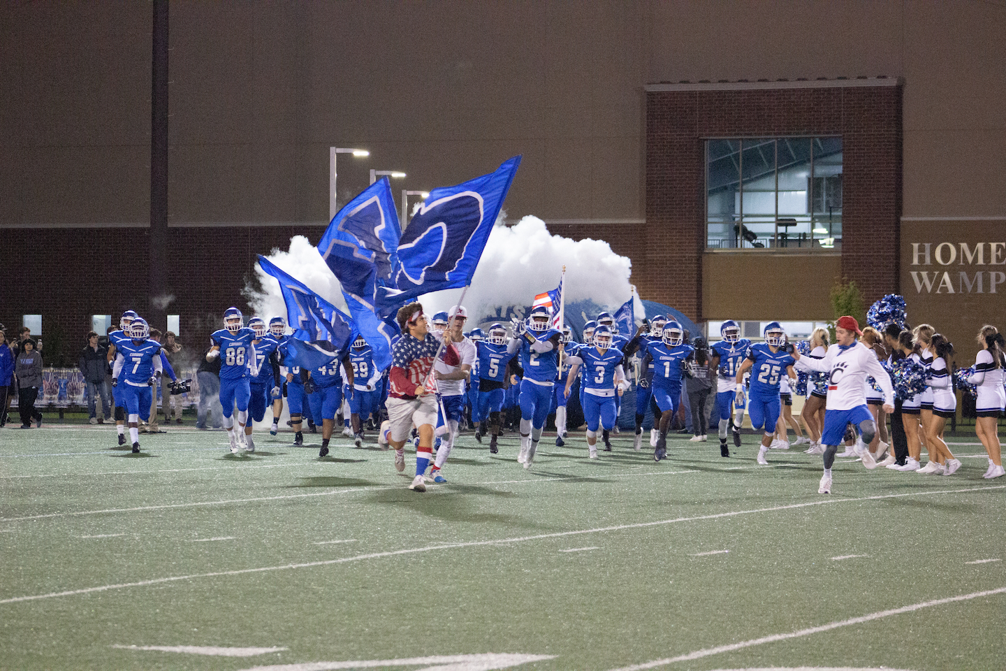 Wampus Cats take the field on Homecoming against Northside.