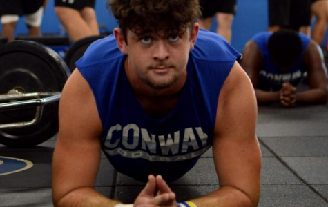 """The highlight of Senior Smith's football career has been his high school years on the Wampus Cat football team. He has been a 3 year starter and will finish as a 3 year letterman. On top of his achievements, Smith has built a very strong relationship with his teammates and """"brothers."""""""