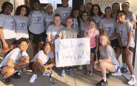 Conway High Girls Basketball Visit Theodore Jones Elementary
