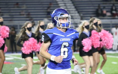 Senior quarterback Ben Weese takes the field against Northside October 16.