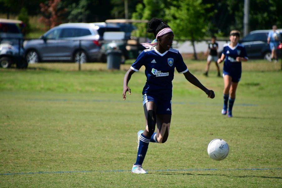 Alexes Onyeyiri plays at the MESA soccer complex in South Carolina.