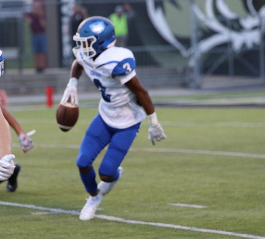 Junior corner Quadrell  Wilson palms one of two picks agains Bentonville September 3.