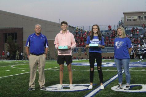 Coach Kennedy, Charlie Meek, Meg Swindle, and Coach Worlow